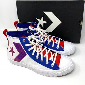 Converse UNT1TL3D Canvas White Blue Red Sneakers M